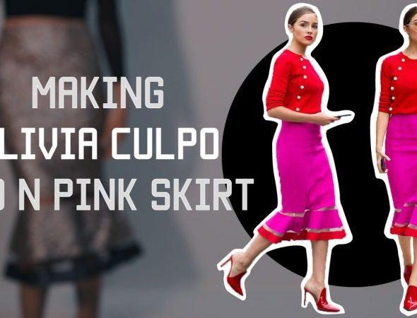 Emanuel Ungaro's red & pink skirt製作示範